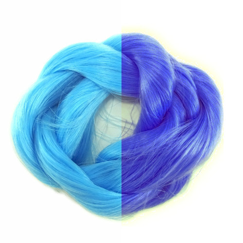 Blue to Purple thermal color change hair extensions