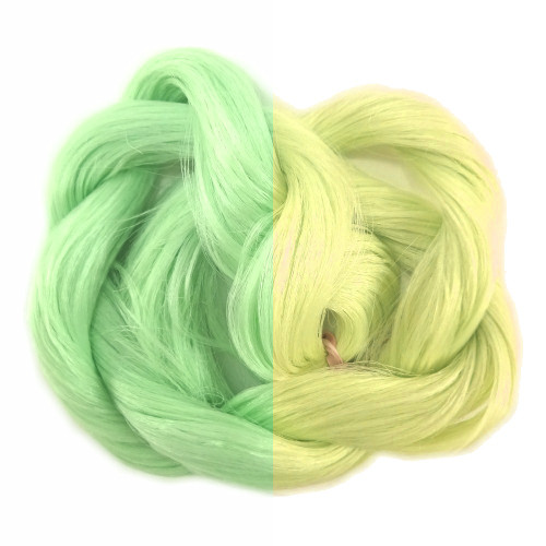 Thermal Color Change Hair, Pastel Green/Pale Yellow