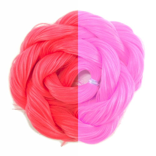 Thermal Color Change Hair, Neon Magenta/Hot Pink