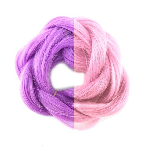 Thermal Color Change Hair, Light Plum/Candyfloss