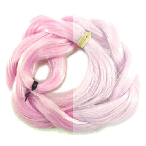 Baby Pink/White thermal color change hair extensions
