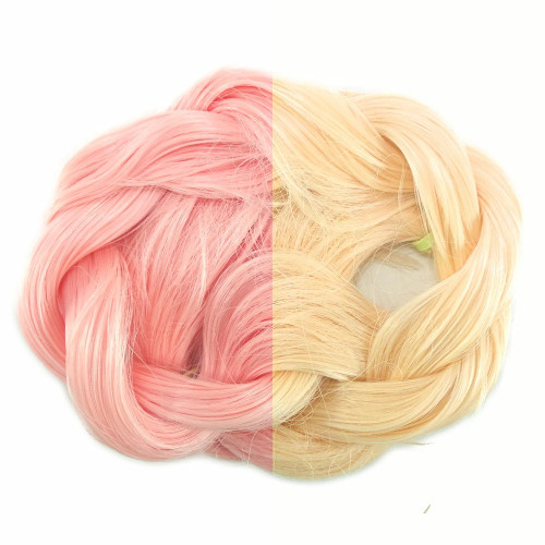 Thermal Color Change Hair, Pastel Pink/Pale Yellow