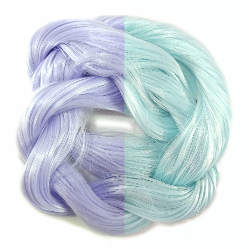 Thermal Color Change Hair, Lilac/Pale Blue