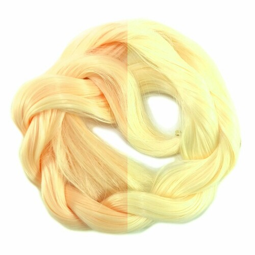 Thermal Color Change Hair, Peach/Pale Yellow