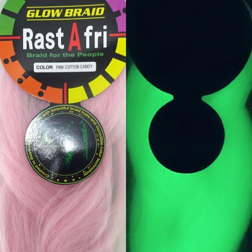 RastAfri Glow Braid, Pink Cotton Candy