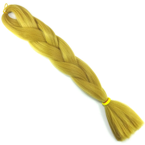 High Heat Kanekalon Braid, Buff Yellow