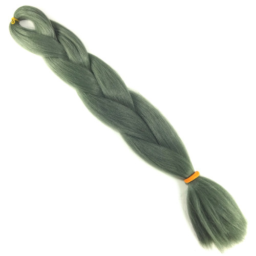 High Heat Kanekalon Braid, Olive Grey