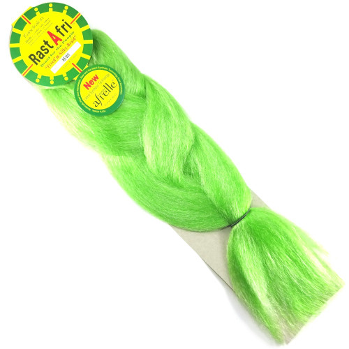 Kanekalon Jumbo Braid, Kiwi / Pastel Green (RastAfri Freed'm Silky)
