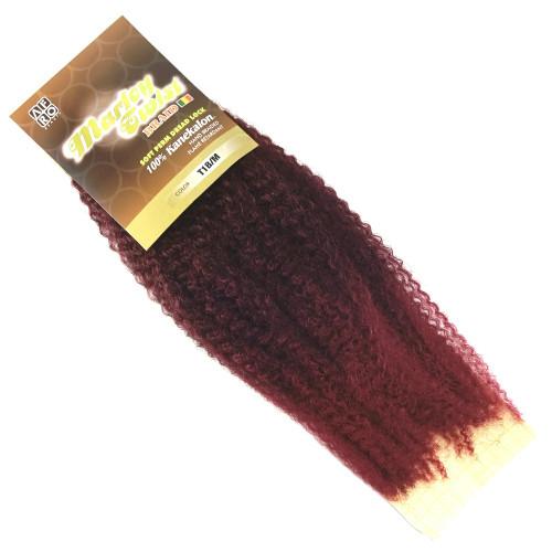 "Afro Beauty 17"" Marley Twist Braid, T1B/BG Red Wine with Burgundy Tips"