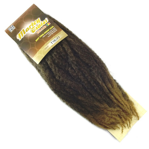 """17"""" Marley Braid, T1B/27 Off Black with Strawberry Blond Tips (Afro Beauty)"""