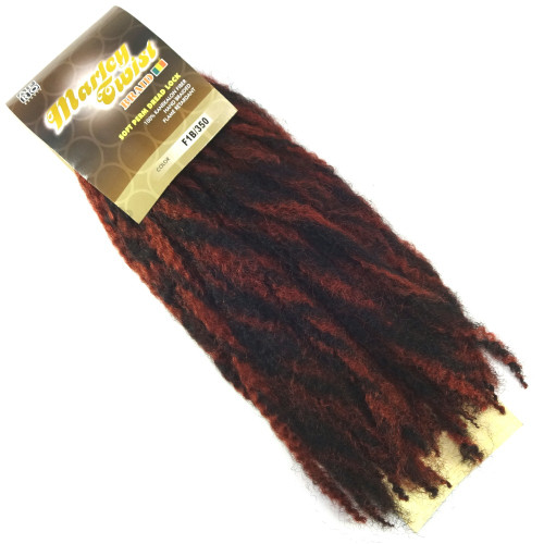 """17"""" Marley Braid, F1B/350 Red Hot (Afro Beauty)"""