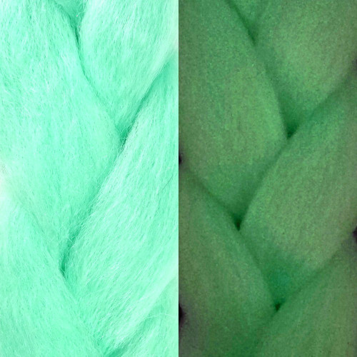 IKS Glow Jumbo Braid, Electric Mint