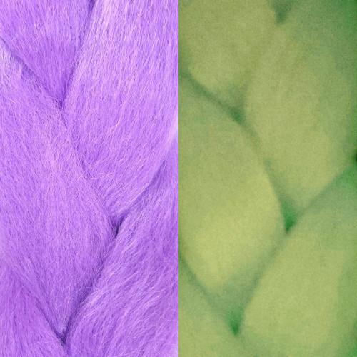 Glow Jumbo Braid, Orchid Purple (I Kick Shins)