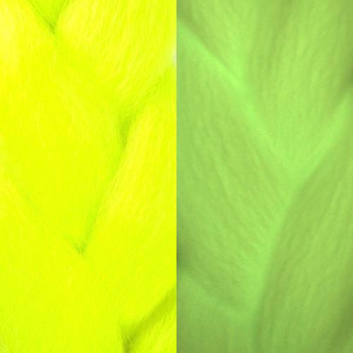 Glow Jumbo Braid, Neon Yellow (I Kick Shins)