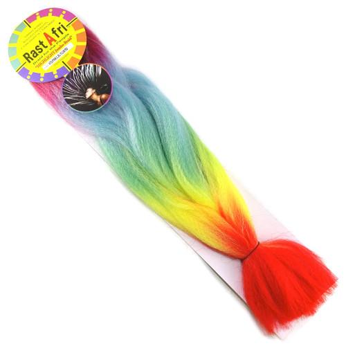 Kanekalon Highlight Braid, Reverse Rainbow (RastAfri)