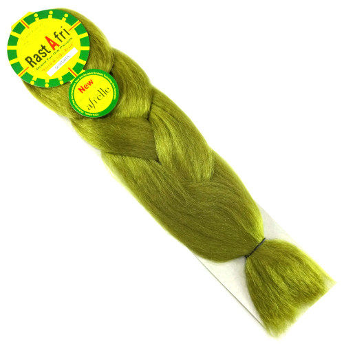 Kanekalon Jumbo Braid, Olive Green (RastAfri Freed'm Silky)