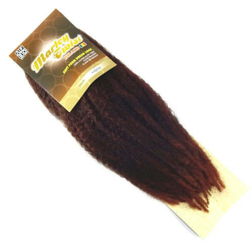 """17"""" Marley Braid, T1B/350 1B Off Black with Rusty Red Tips (Afro Beauty)"""