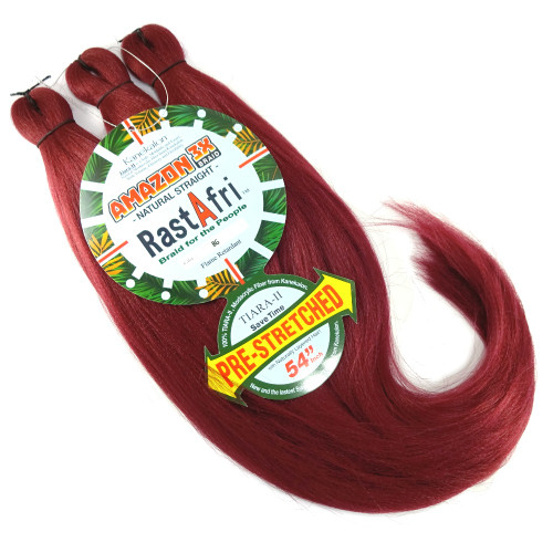 Pre-Stretched Amazon 3X Braid, Burgundy (RastAfri)