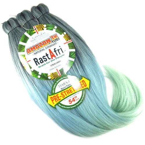 RastAfri Pre-Stretched Amazon 3X Braid, 3T/Blue Lagoon