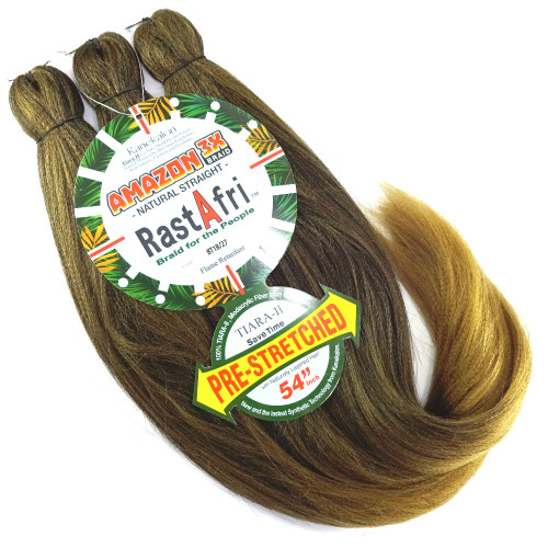 RastAfri Pre-Stretched Amazon 3X Braid, BT1B/27 Off Black with Strawberry Blond Tips