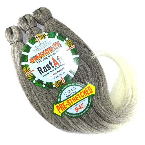 RastAfri Pre-Stretched Amazon 3X Braid, BT4/PB Dark Brown with Platinum Blonde Tips