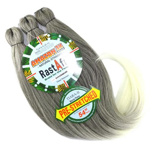 RastAfri Pre-Stretched Amazon 3X Braid, BT4/PB Dark Brown with Platinum Blonde Tips