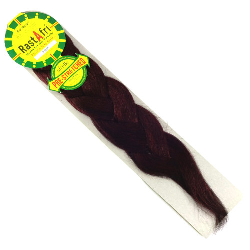 Pre-Stretched Freed'm Silky Braid, M1B/BG Red Wine (RastAfri)