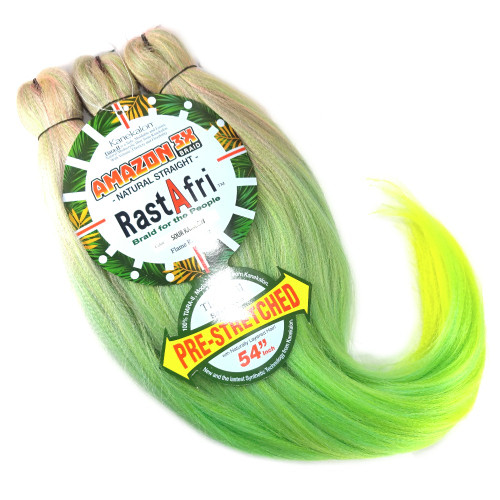 RastAfri Pre-Stretched Amazon 3X Braid, Sour Rainbow