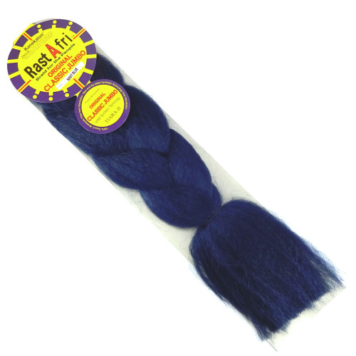 RastAfri Original Classic Jumbo Braid, Navy Blue Redux (Navy Blue)