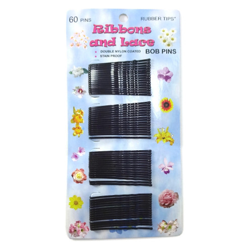 60 Black Bobby Pins