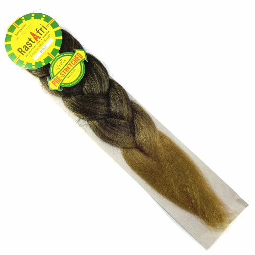 RastAfri Pre-Stretched Freed'm Silky Braid, T1B/27 1B Off Black with Strawberry Blond Tips
