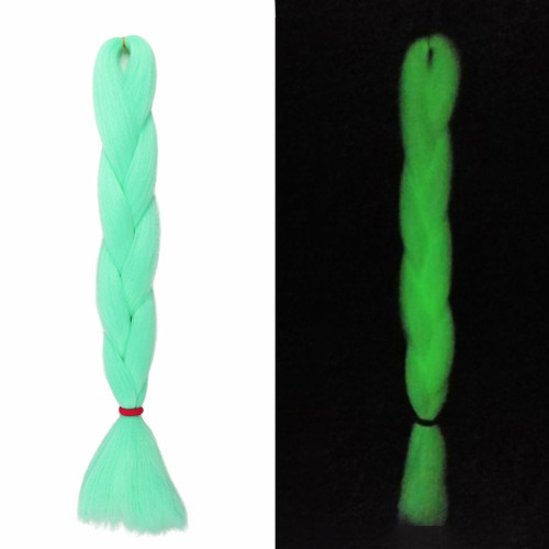 Glow Yaki Braid, Electric Mint (I Kick Shins)