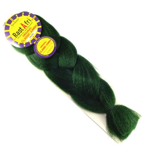 RastAfri Original Classic Jumbo Braid, Jungle Green
