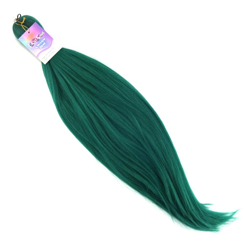 "IKS Pre-Stretched 26"" Kanekalon Braid, Ocean Green"