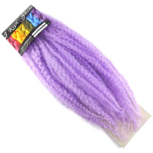 """17"""" Crinkle Twist Braid, Lavish Purple (I Kick Shins)"""
