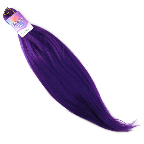 "IKS Pre-Stretched 26"" Kanekalon Braid, Dark Purple"