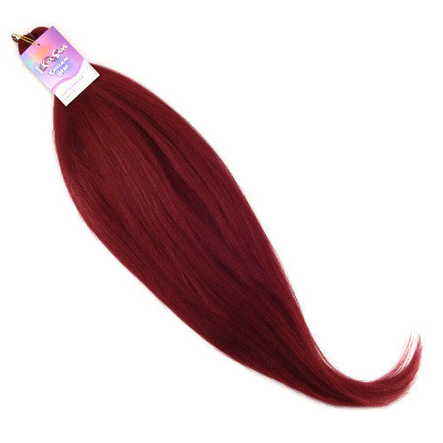 "IKS Pre-Stretched 26"" Kanekalon Braid, 118 Blood Red"