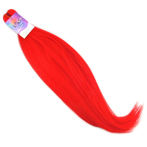 "IKS Pre-Stretched 26"" Kanekalon Braid, Medium Red"