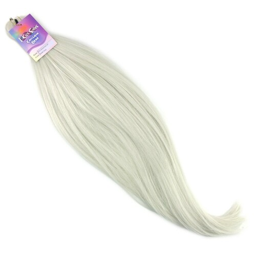 "IKS Pre-Stretched 26"" Kanekalon Braid, Solid Grey"