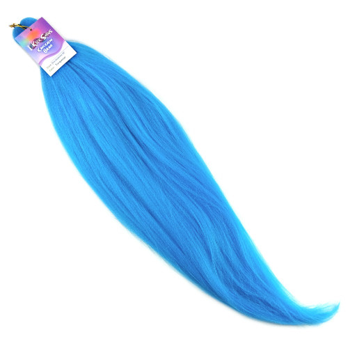 "IKS Pre-Stretched 26"" Kanekalon Braid, Turquoise"