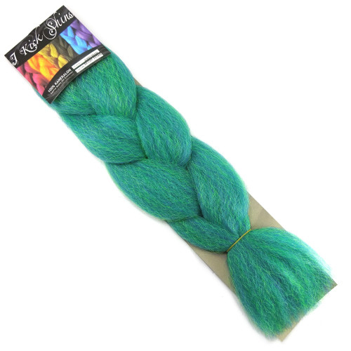 IKS Kanekalon Jumbo Braid, Extra Bright Pet. Green