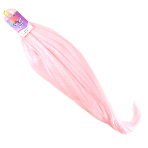 "IKS Pre-Stretched 28"" Kanekalon Ultra Braid, Pastel Pink"