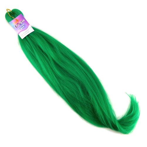 "IKS Pre-Stretched 28"" Kanekalon Braid, Emerald Green"