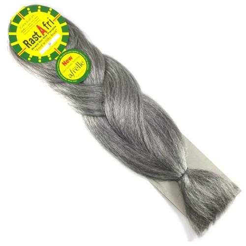 Kanekalon Jumbo Braid, 51 Grey (RastAfri Freed'm Silky)