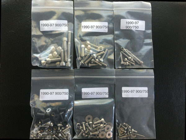 Stainless body and engine Fasteners kit 110+ piece