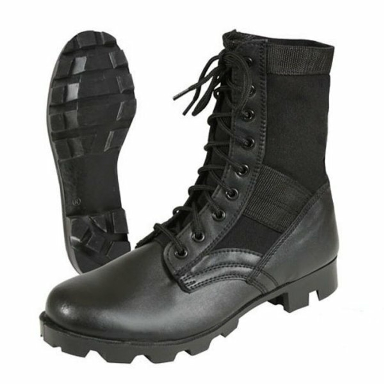 US GI Military style Black Jungle Combat Boots new US MADE {12W}