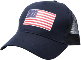 LA POLICE GEAR AMERICAN FLAG TRUCKER HAT