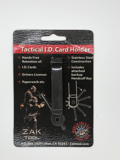 Tactical I.D. Card Holder and Handcuff Key