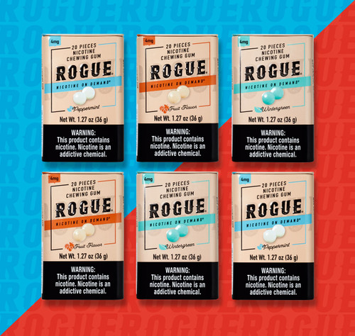 Rogue Gum 6 Pack 4MG Mix Flavor