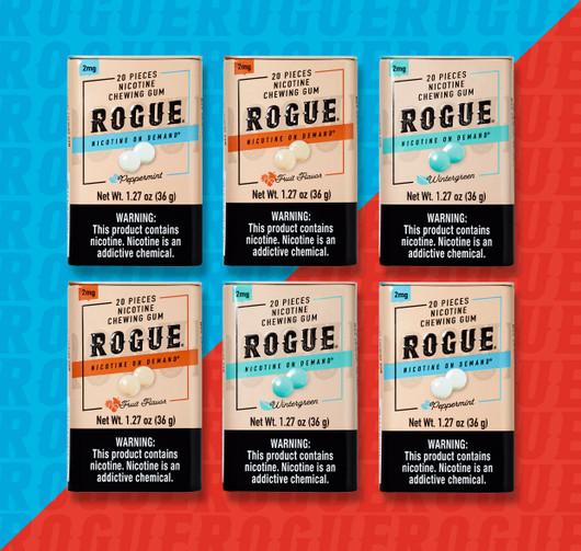 Rogue Gum 6 Pack 2MG Mix Flavor